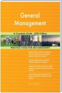 General Management A Complete Guide - 2020 Edition