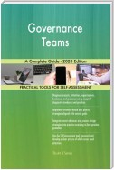 Governance Teams A Complete Guide - 2020 Edition