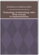 Technology of advertising video from concept to implementation